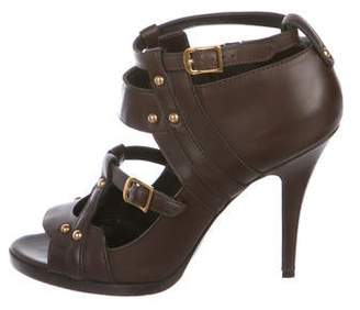 Gucci Leather Ankle Strap Booties