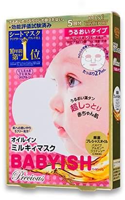 KOSE コーセー クリアターン ベイビッシュ プレシャス オイル イン ミルキィ マスク うるおい 5枚 フェイスマスク