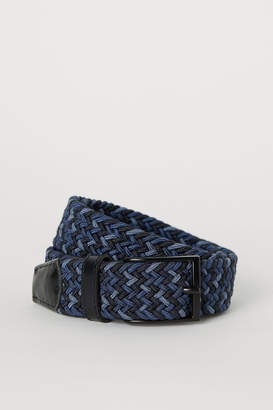 H&M Elasticized Fabric Belt - Blue