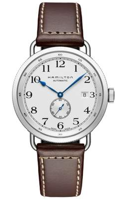 Hamilton Khaki Navy Pioneer Leather Strap Watch, 40mm