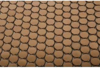 Splashback Tile SAMPLE - Stainless Steel Metal Mosaic Tile in Brushed Copper