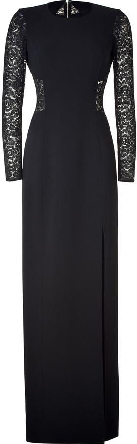 Michael Kors Black Lace Combo Gown