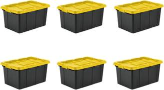 Sterilite 27 Gal Industrial Tote, Yellow Lily (Case of 4)