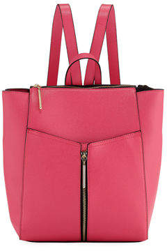 Neiman Marcus Saffiano Faux-Leather Backpack