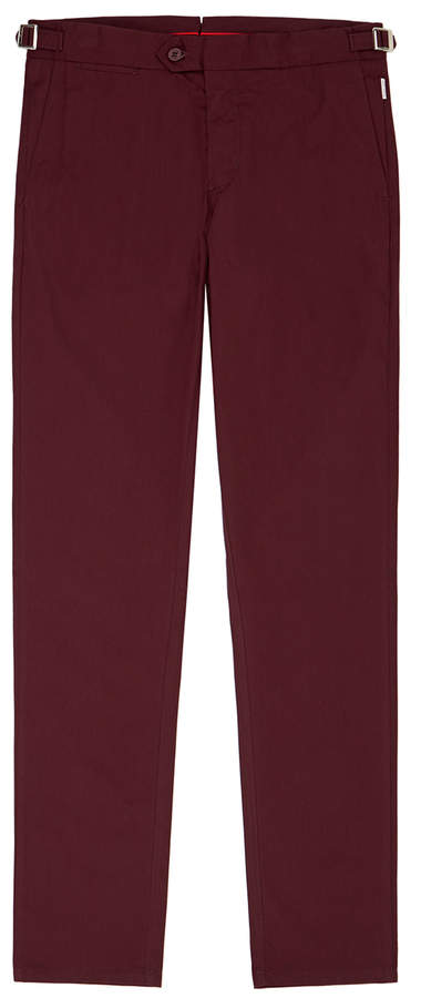Orlebar Brown Griffon Bordeaux Side-Fastener Trousers