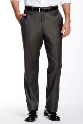 Santorelli Flat Front Wool Trouser