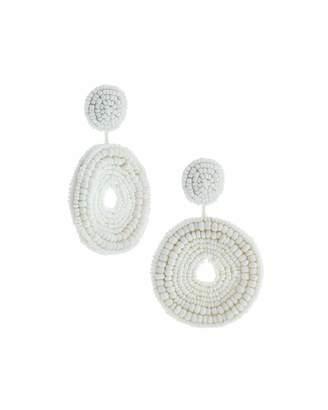 Kenneth Jay Lane Seed Bead Circular Drop Post Earrings