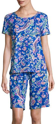 Lauren Ralph LaurenLauren Ralph Lauren Paisley Tee and Bermuda Shorts Pajama Set