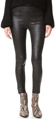 Free People Faux Leather Never Let Go Leggings $98 thestylecure.com