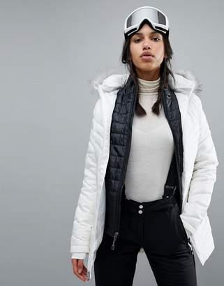 Spyder Timeless Long Faux Fur Ski Jacket