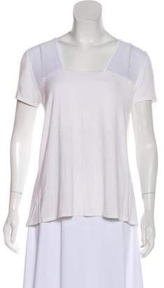 Tahari High-Low Short Sleeve Top
