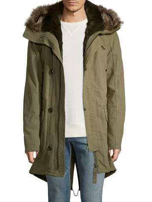 Yves Salomon Men's Attached Hood Coat