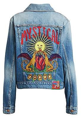 Mother Women's The Pocket Bruiser Embroidery Denim Jacket