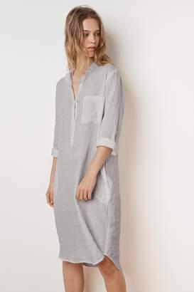 Velvet by Graham & Spencer NANDY WOVEN LINEN SHIRT DRESS