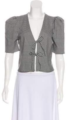 Lovers + Friends Checkered Short Sleeve Blouse