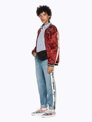 Scotch & Soda Reversible Embroidered Bomber Jacket