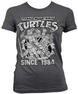 6da76f560 Teenage Mutant Ninja Turtles T Shirt Since 1984 Official Womens Skinny Fit  Grey