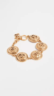 Chanel What Goes Around Comes Around Quilted Coin Bracelet