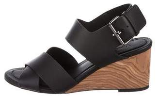 Vince Leather Slingback Wedges