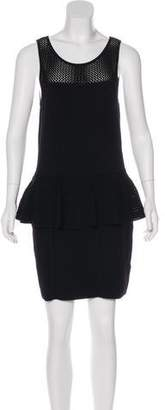 Milly Knit Peplum Mini Dress