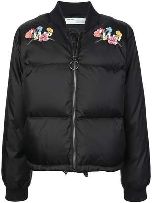 Off-White embroidered puffer jacket