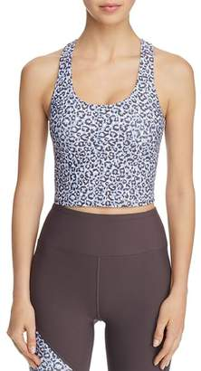 Betsey Johnson Leopard-Print Cropped Top