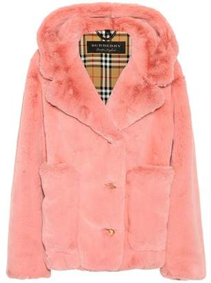 Burberry Faux-fur hooded jacket