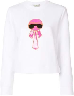 Fendi Karl motif sweatshirt