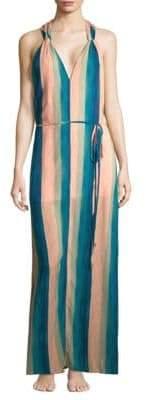 Hermanny ViX by Paula Mani Julie Striped Maxi Dress