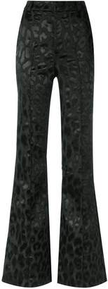 Tufi Duek animal print flared trousers