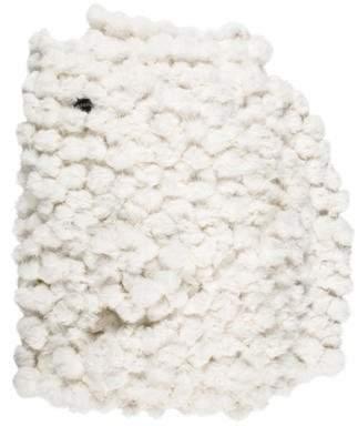 Adrienne Landau Fur Pom-Pom Throw Blanket