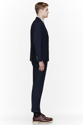 Thom Browne Navy fine wool classic suit