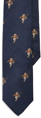 Ralph Lauren Rugby Bear Silk Narrow Tie