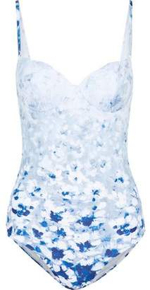 La Perla Open-Back Floral-Print Swimsuit