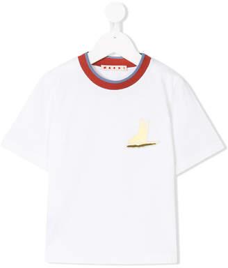 Marni contrast trim T-shirt