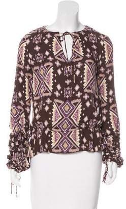 Tory Burch Printed Silk Blouse