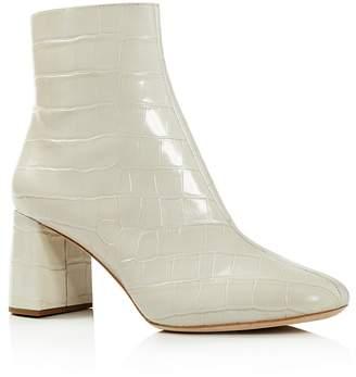 Loeffler Randall Women's Cooper Almond Toe Leather High-Heel Booties
