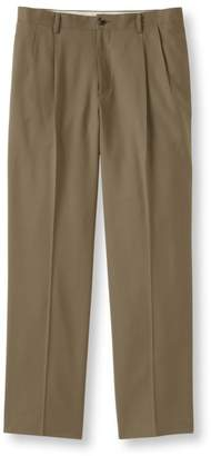 L.L. Bean L.L.Bean Washable Year-Round Wool Pants, Natural Fit Hidden Comfort Pleated
