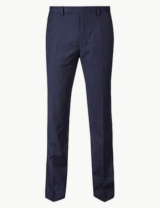 Marks and Spencer Navy Slim Fit Wool Trousers