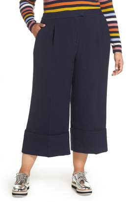 Halogen x Atlantic-Pacific High Waist Wide Cuff Ankle Pants