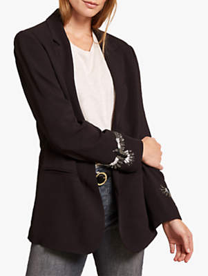 Embellished Blazer, Black