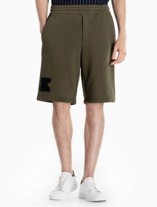 Calvin Klein cotton knit k-badge shorts