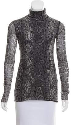 Jean Paul Gaultier Soleil Animal Print Long Sleeve Top
