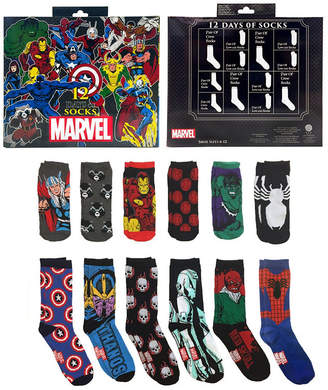 Marvel 12 Days of Socks Gift Box Crew Socks-Mens