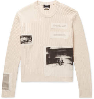 Calvin Klein Andy Warhol Appliquéd Ribbed Cotton Sweater