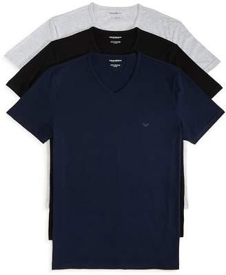 Emporio Armani Pure Cotton V-Neck T-Shirts - Pack of 3