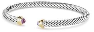 David Yurman Cable Kids Birthstone Bracelet with Amethyst & 14K Gold