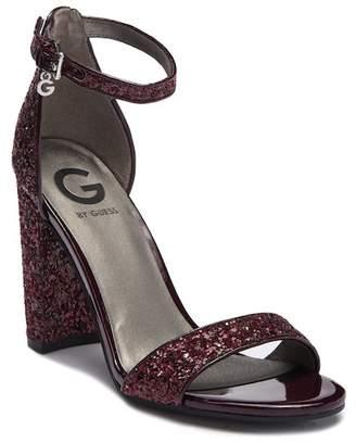 G by Guess Shantel Glitter Block Heel Sandal