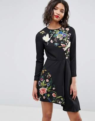 Asos DESIGN Pretty Embroidered Skater mini dress