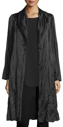 Eileen Fisher Steel Satin Coat $498 thestylecure.com